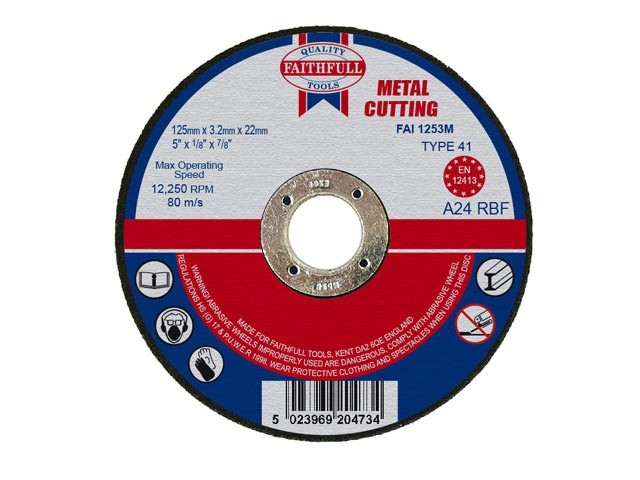 Metal Cut Off Disc 125 x 3.2 x 22mm