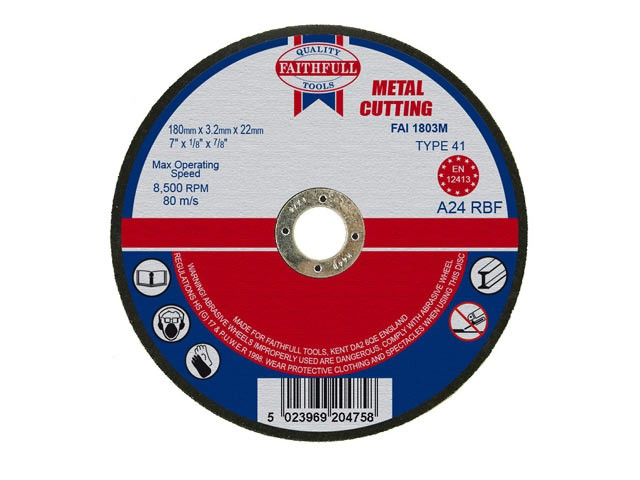 Metal Cut Off Disc 180 x 3.2 x 22mm