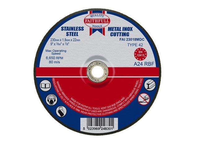 Depressed Centre Metal Cut Off Disc 230 x 1.8 x 22mm