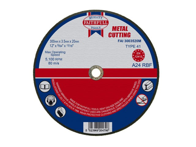 Metal Cut Off Disc 300 x 3.5 x 20mm