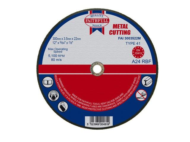 Metal Cut Off Disc 300 x 3.5 x 22mm