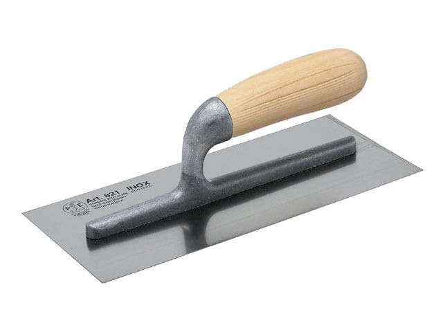 820 Plasterers Finishing Trowel Stainless Steel Wooden Handle 11 x 4.3/4in