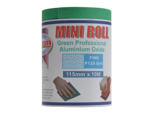 Aluminium Oxide Sanding Paper Roll Green 115mm x 10m 120g