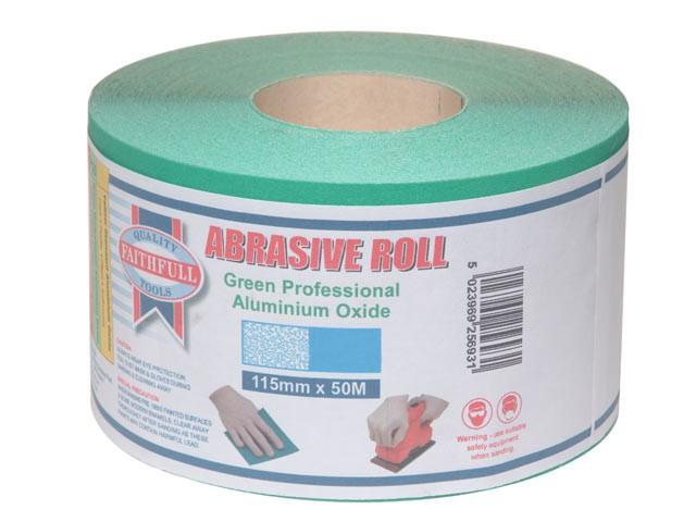 Aluminium Oxide Sanding Paper Roll Green 115mm x 50m 40g
