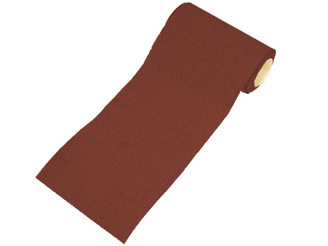Aluminium Oxide Sanding Paper Roll Red Heavy-Duty 115mm x 5m 80g