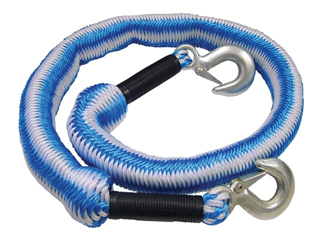 Tow Rope Expanding 4m Metal Hooks 3 Tonnes