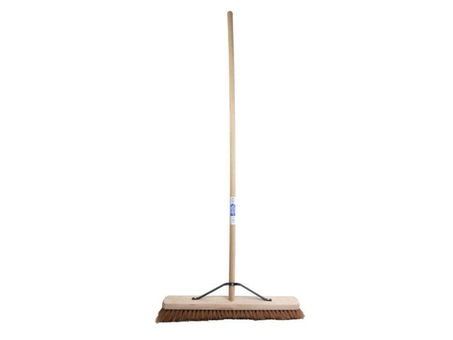 Broom Soft Coco 60cm (24in) + Handle & Stay