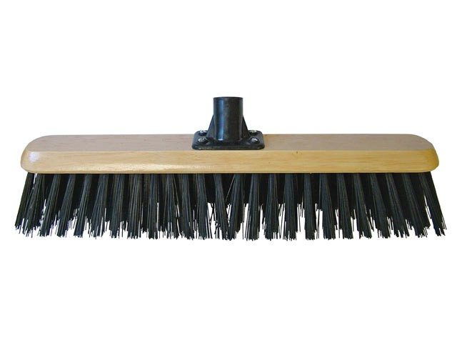 Platform Broom Head Black PVC 45cm (18in) Threaded Socket