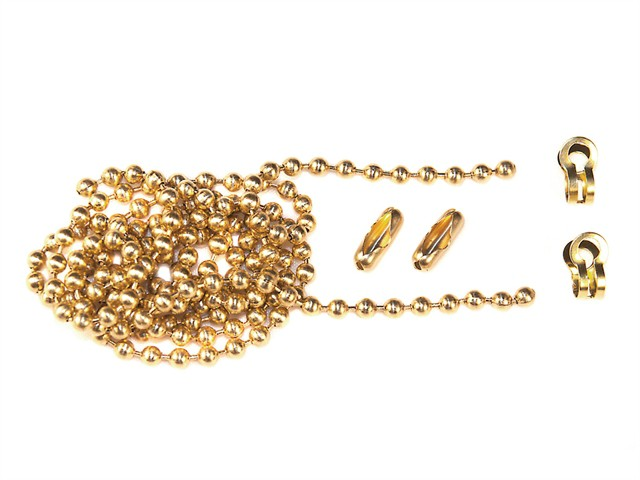Brass Ball Chain Kit 1m Polished Brass