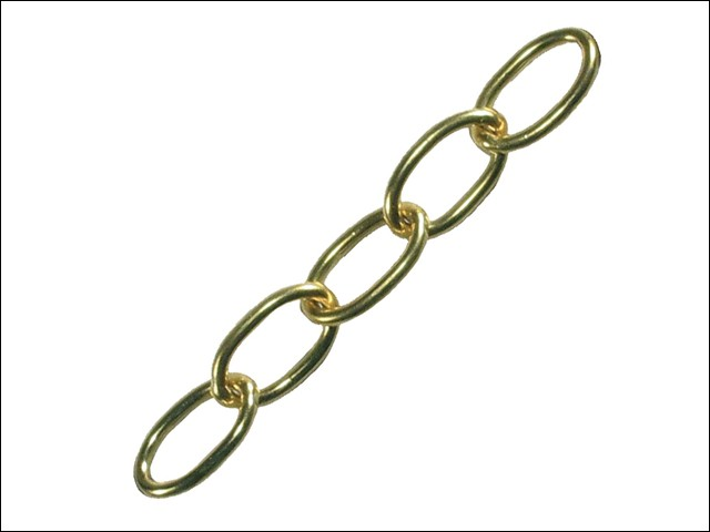 Oval Chain 1.8mm x 10m Polished Brass