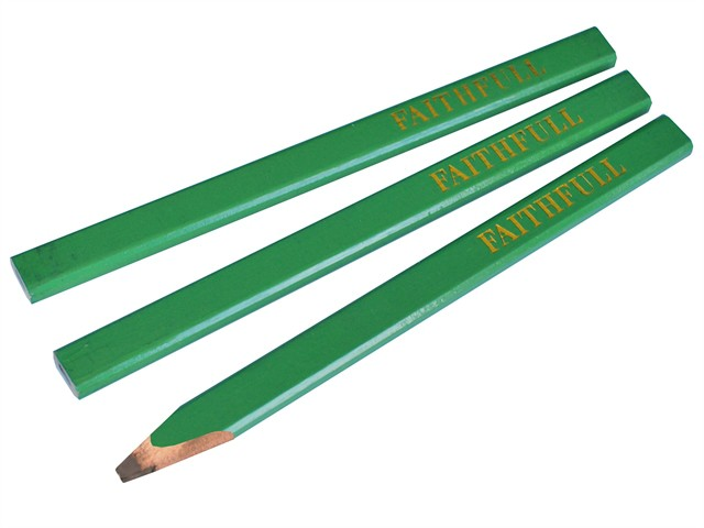 Carpenter's Pencils - Green / Hard (Pack of 3)