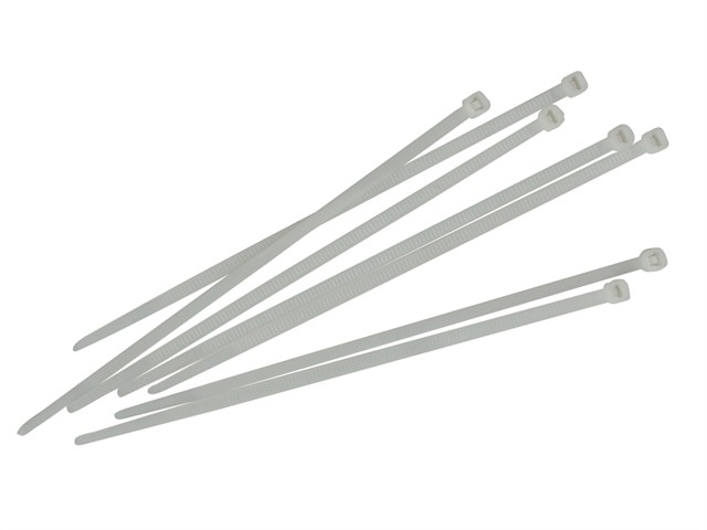 Cable Ties White 200mm x 3.6mm Pack of 100