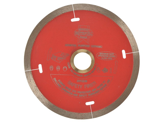Diamond Tile Blade Continuous Rim 105 x 16mm