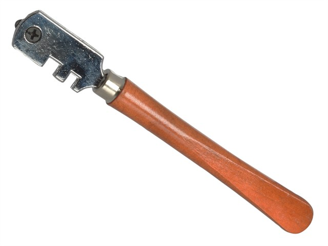 Six Wheel Glasscutter Tungsten Carbide - Wood Handle