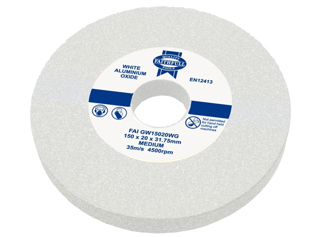 General Purpose Grinding Wheel 200 x 25mm White Medium