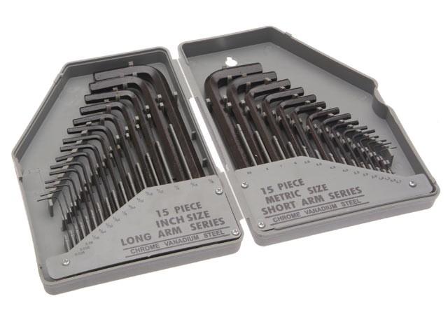 Hex Key Set of 30 Metric / Imperial (0.7-10mm 0.028-3/8in)