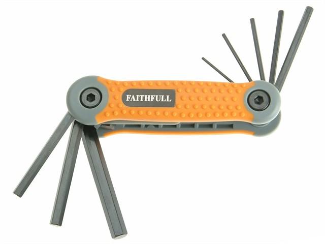 Hex Key Folding Set of 8 Metric (1.5-8mm)