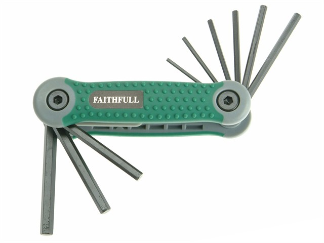 Hexagon Key Folding Set of 9 Imperial (5/64 - 1/4in)