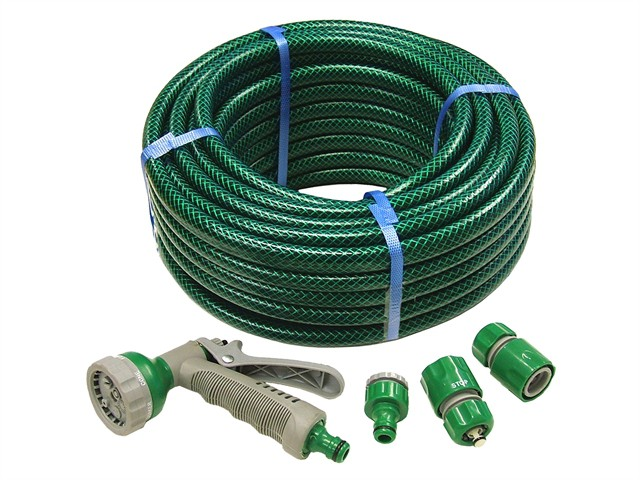 PVC Reinforced Hose 15m Fittings & Spray Gun