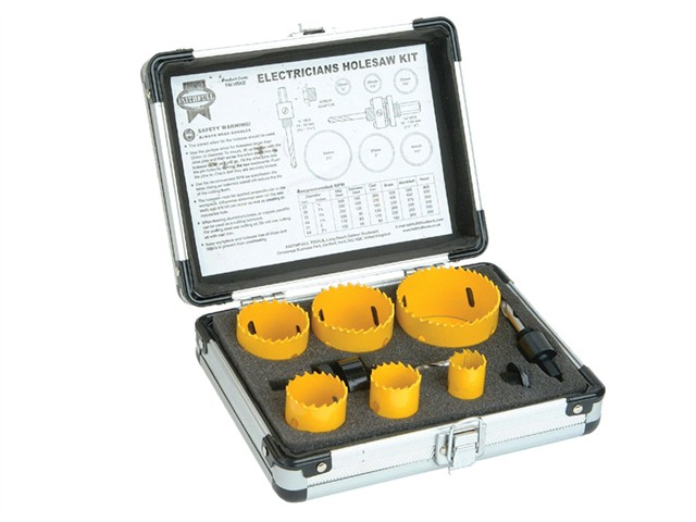 Universal Varipitch Holesaw Electrician's Kit 9 Piece 16-51mm