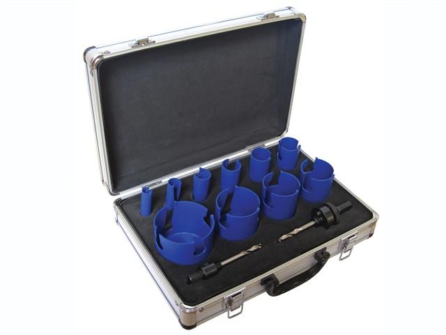 Multi-Purpose TCT Holesaw Kit 12 Piece 16-76mm