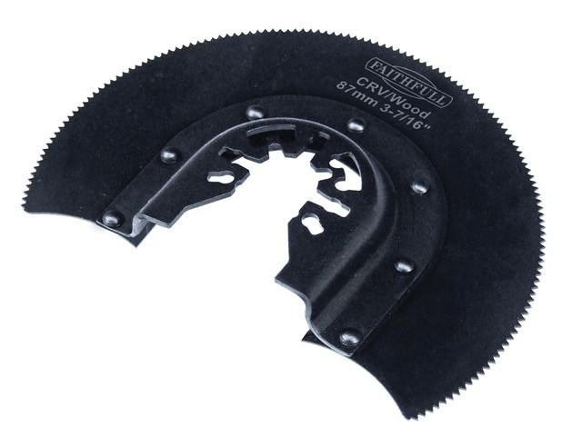 Multi-Functional Tool CRV Radial Blade Wood Wavy Set 87mm