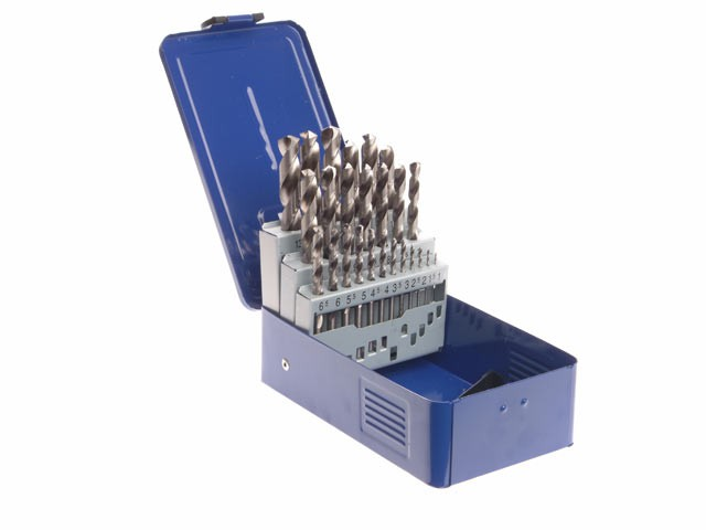 HSS Drill Bit Set of 25 M2 1 - 13mm & Case