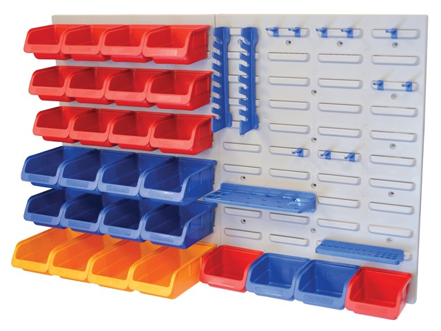 Storage Bin Set with Wall Panels 43 Piece