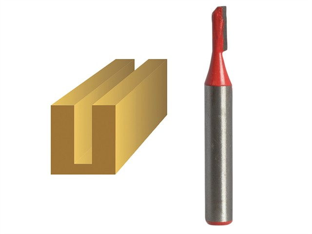 Router Bit TCT Single Flute 3.2mm x 10mm 1/4in Shank