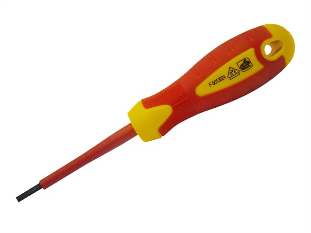 VDE Soft Grip Screwdriver Parallel Slotted Tip 4.0 x 100mm