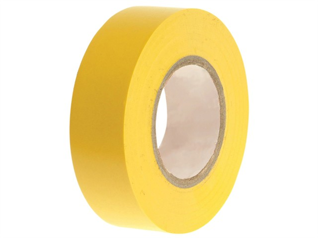 PVC Electrical Tape Yellow 19mm x 20m