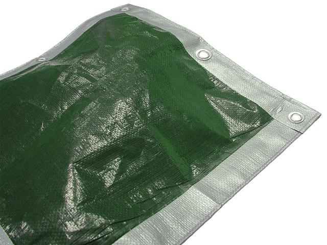 Tarpaulin Green/ Silver Heavy-Duty 5.4 x 5.4m (18 x 18ft)