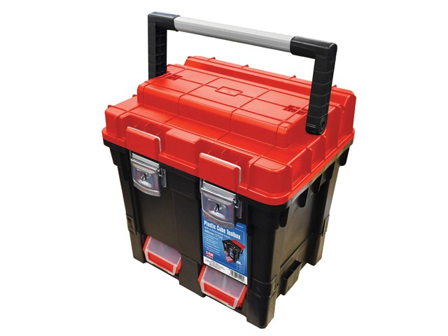 Plastic Cube Toolbox - 2 Trays 44cm (17in) Deep