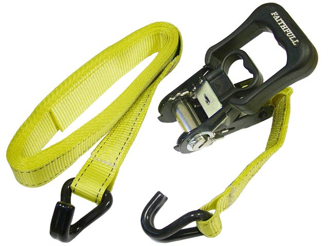 Ratchet Tie-Downs J Hook 5m x 32mm Breaking Strain 1320kg/daN 2 Piece