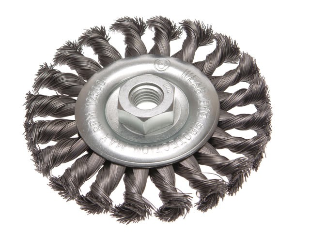 Circular Wire Brush 115 x 12mm M14 Bore 2 0.35mm Wire