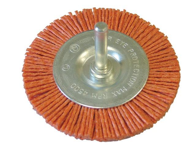 Nylon Wheel Flat 100mm x 6mm Shank