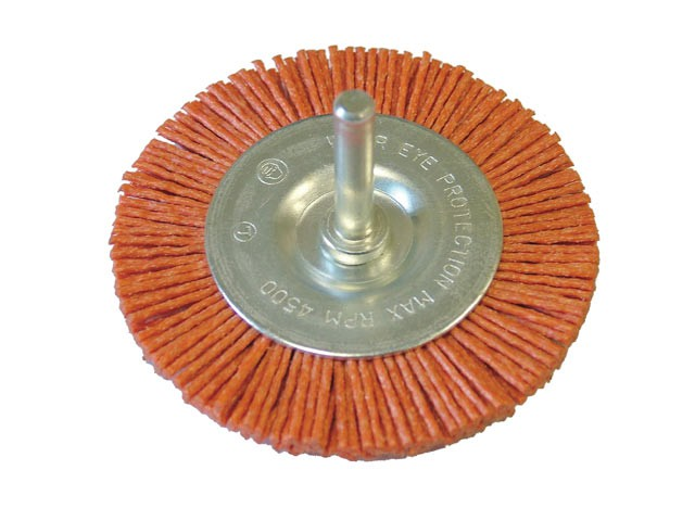 Nylon Wheel Flat 75mm x 6mm Shank