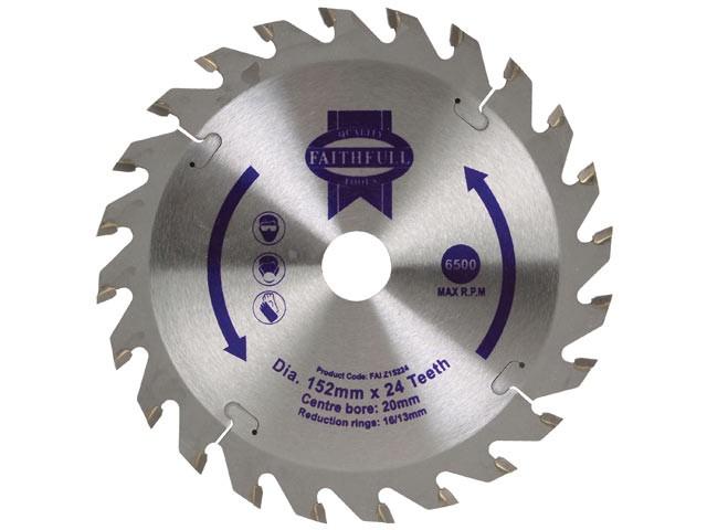TCT Circular Saw Blade 152 x 20mm x 24T POS