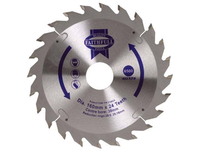 Circular Saw Blade 160 x 30mm x 24T Fast Rip