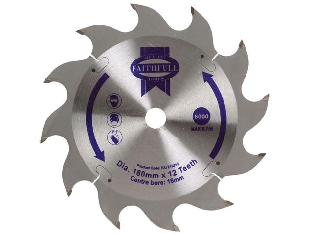 Circular Saw Blade 180 x 16mm x 12T Fast Rip