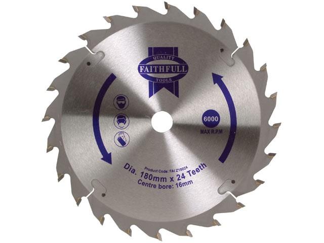 TCT Circular Saw Blade 180 x 16mm x 24T Fast Rip