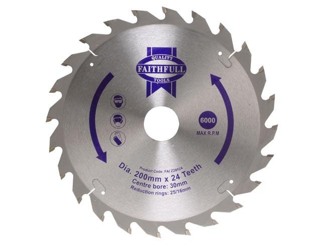 TCT Circular Saw Blade 200 x 16mm x 24T POS
