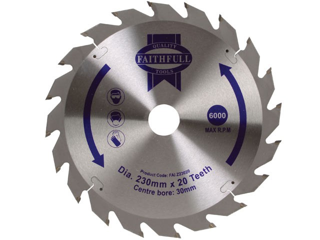 TCT Circular Saw Blade 230 x 30mm x 20T POS