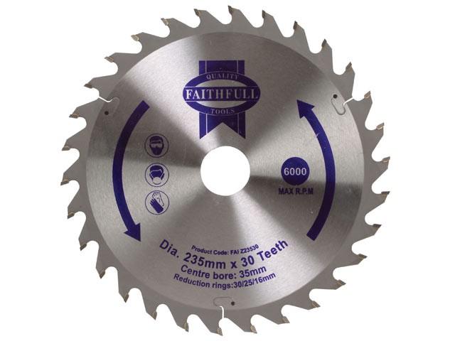 TCT Circular Saw Blade 235 x 35mm x 30T POS