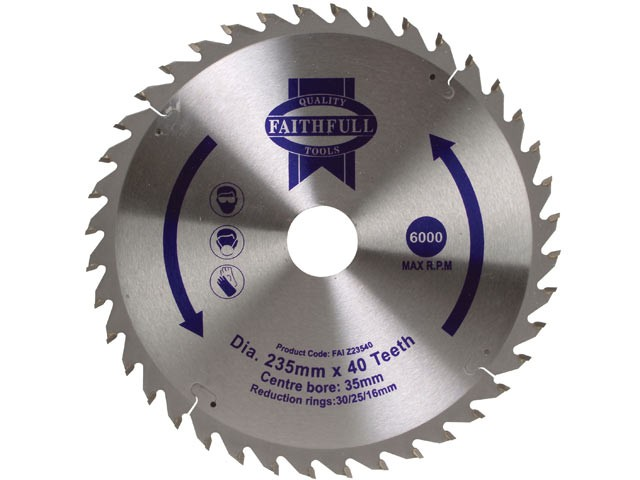 TCT Circular Saw Blade 235 x 35mm x 40T POS