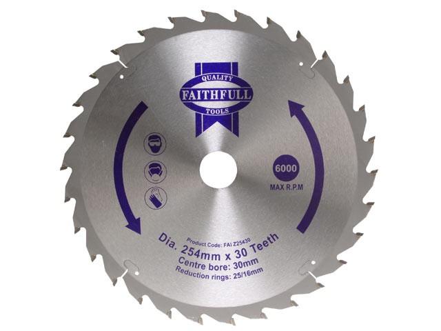 TCT Circular Saw Blade 250 x 16/25/30mm x 24T Fast Rip
