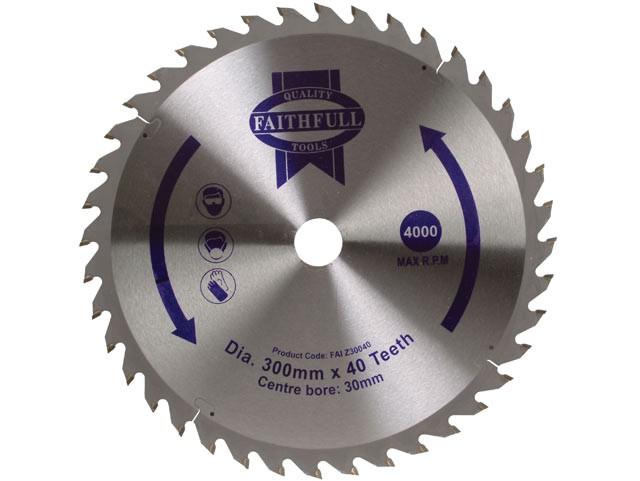 Circular Saw Blade 300 x 30mm x 40T Fine Cross Cut