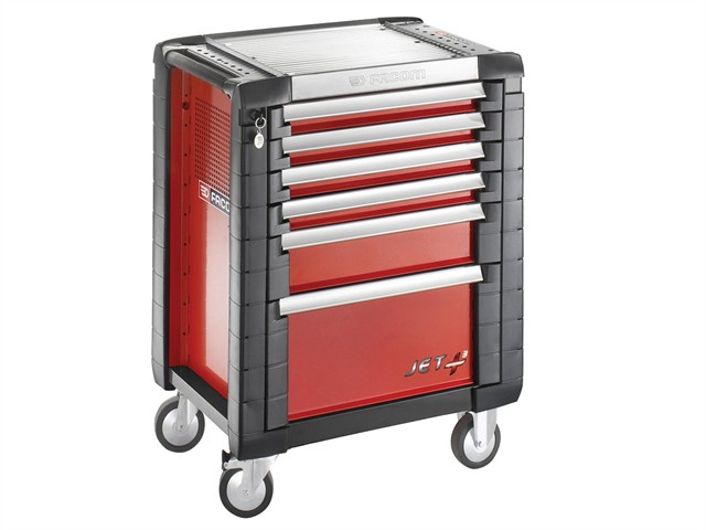 Jet.6M3 Roller Cabinet 6 Drawer Red