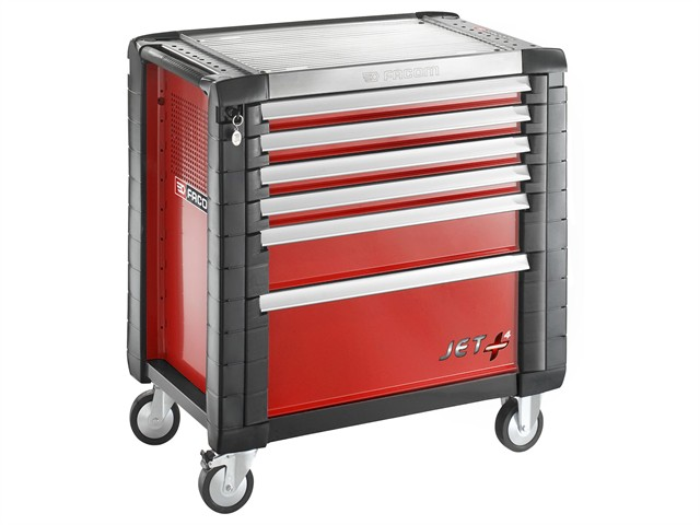 Jet.6M4 Roller Cabinet 6 Drawer Red