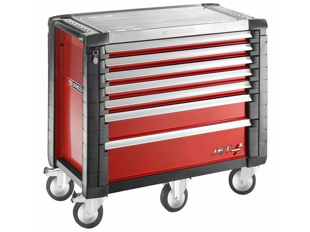 Jet.7M5 Roller Cabinet 7 Drawer Red